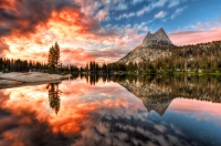 USA, California, Yosemite National Park Cathedral Lake