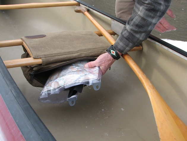 Canoe accessory bags by Frost River.