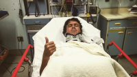 Albee Layer Hospitalized at Jaws