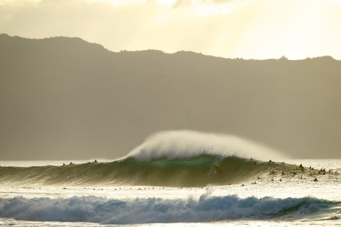 Pipeline; deadly, beautiful and always crowded. Photo by Billabong