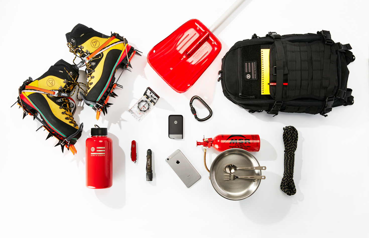 One of the smallest items in this photo can save your hide in the backcountry if you get lost. Photo: Beartooth