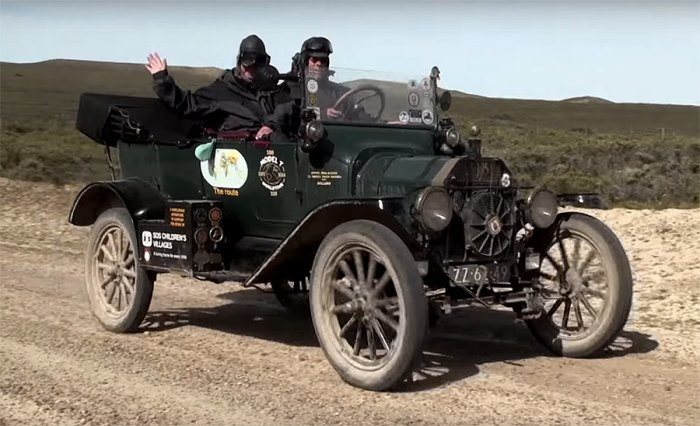 Offroading is no problem for the Model T.