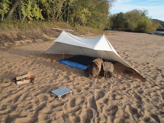 Canvas tent and packs. Photo by Darren Bush.