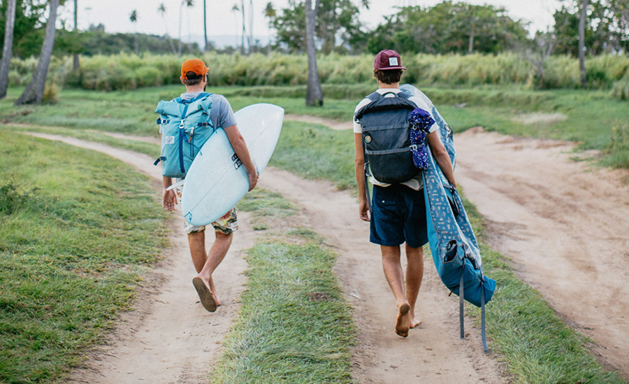 As you can see, the High and Dry 40 works for tropical adventures as well. Photo: Courtesy Poler Stuff