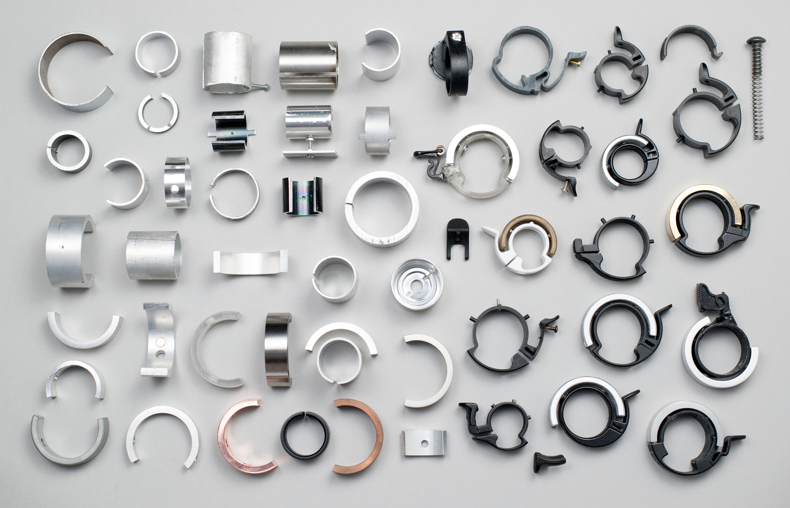 A portion of the prototypes that led to the Oi. Photo: Courtesy of Knog