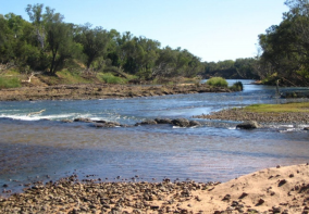 Dorisvale crossing in the Northern Territory where the crocodile attacked.