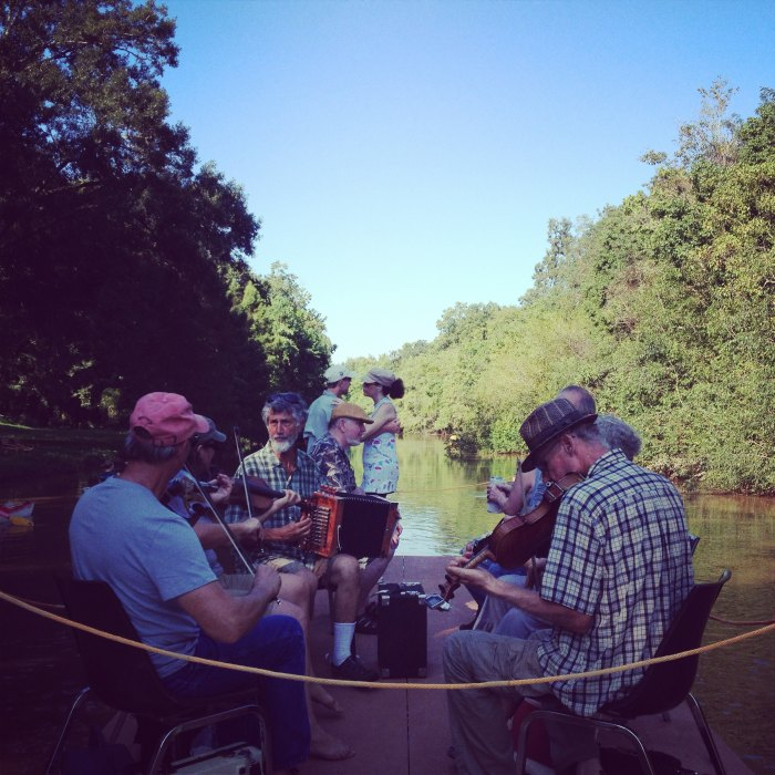 Musical entertainment on the Bayou Teche. Image courtesy of Conni Castille.