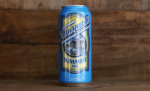 A classic summertime beer from a classic brewery. Photo: Courtesy of Narragansett Beer