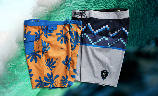 """Vans Sturdy Stretch Boardshort, all the comfort of stretch boards, but """"won't cling to your thing."""" Photo: Vans."""