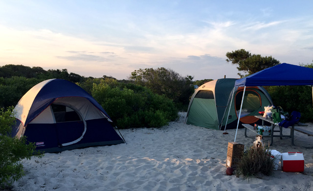 Assateague, Maryland is a place where you can camp on the sand and walk steps to the surf. Photo: Icetrip/Flickr.