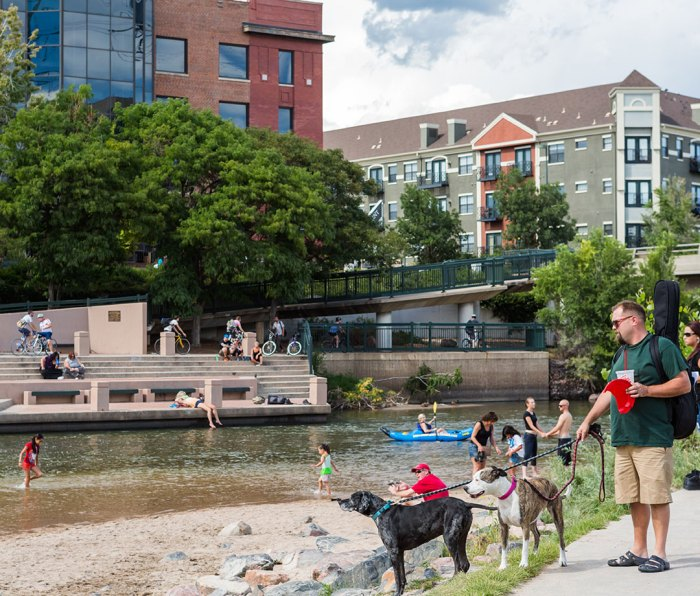 A summer weekend at Confluence Park in downtown Denver