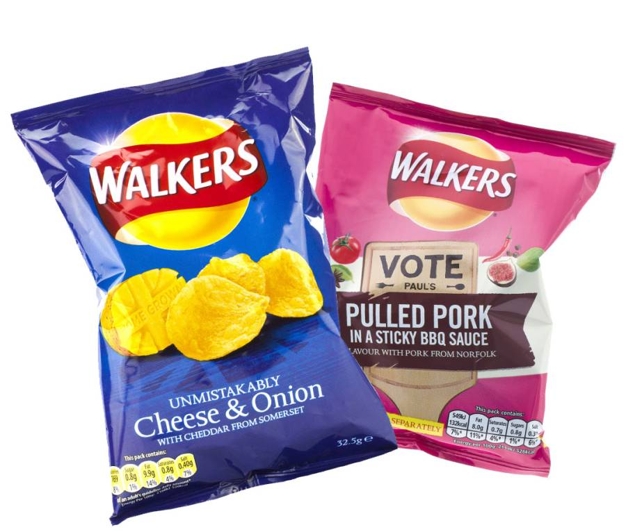 Walkers crisps from England