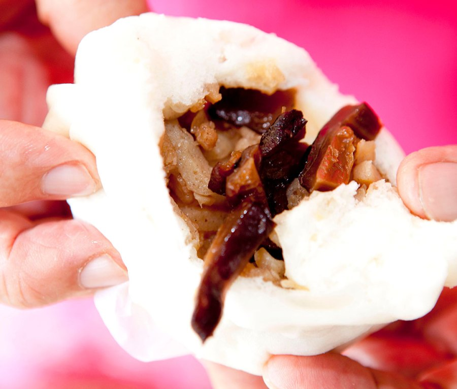 Pork Baozi, available in most grocery stores in China
