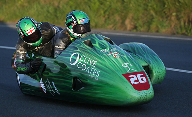 The sidecar housing Dwight Beare and Benjamin Binns. Photo: Courtesy of Isle of Man TT