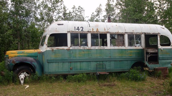 Into the Wild bus on Stampede Trail