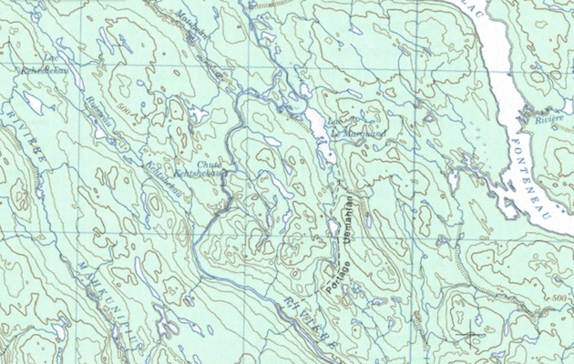 The portage route.