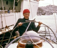 "A still from ""The Undersea World of Jacques Cousteau"" from March 1, 1973, showing Jacques-Yves Cousteau."
