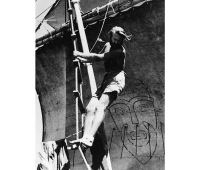 Thor Heyerdahl climbs the mast of the Kon-Tiki in mid-1947.