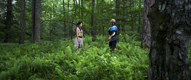 Keller encounters a fairy in the forest. Photo: Steve Fisher.
