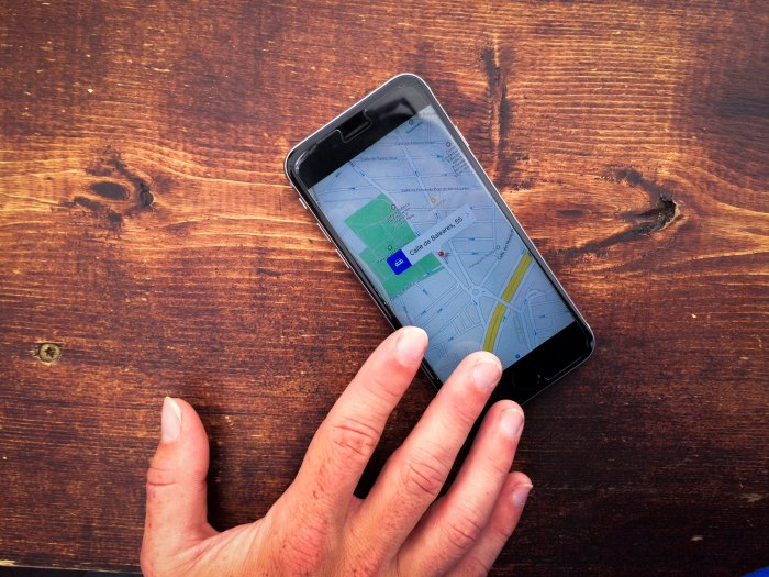 With Google Maps, you can know where you are, even without bars. Photo courtesy of Krystin Norman/@krystinnorman.