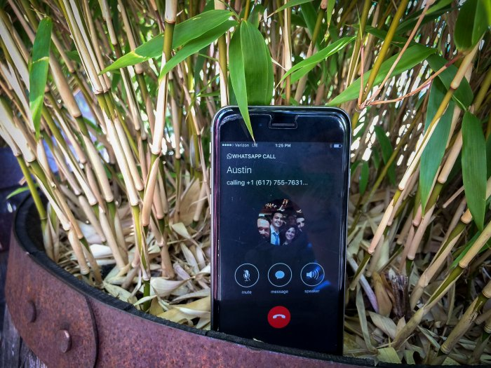 Messaging services like Whatsapp are now great options for phone calls overseas. Photo courtesy of Krystin Norman/@krystinnorman.