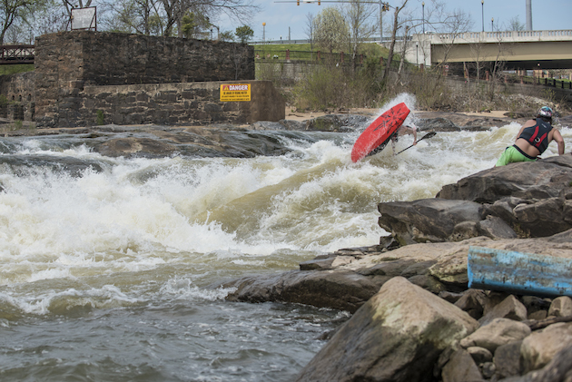 Hunter Katich throwing a loop in the Cutbait channel. Photo by Aaron Schmidt.