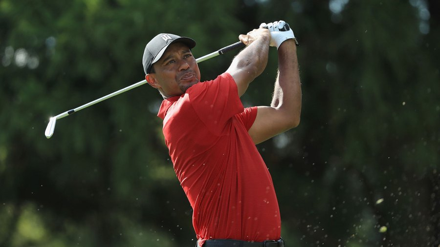 Tiger Woods of the United States plays his shot from the 11th tee during the final round of the TOUR Championship at East Lake Golf Club on September 23, 2018 in Atlanta, Georgia. (Photo by Sam Greenwood/Getty Images)