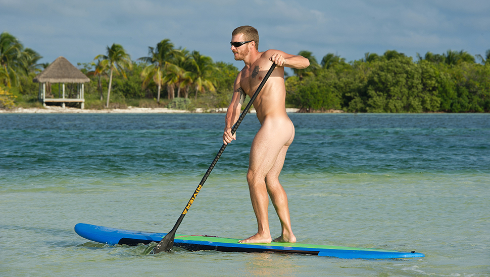 Co-owner of Nomadic SUP, Cody White enjoys a paddle completely free of restrictions. Photo: Juan Pisani