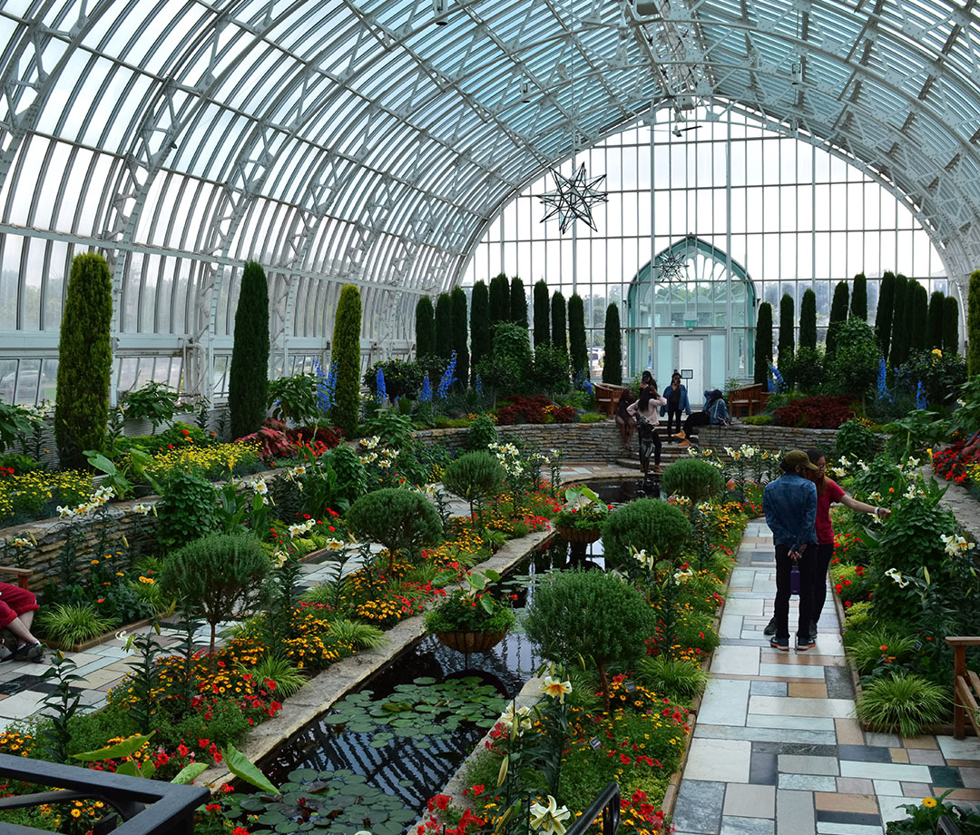The Sunken Garden at Como Zoo and Conservatory in Saint Paul, MN