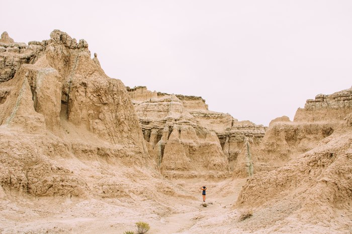 Want to feel smaller? Head to the Notch Trail in Badlands National Park. Photo: Brandon Scherzberg