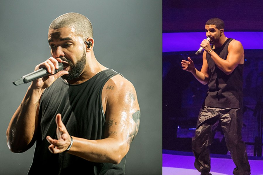 L: Drake performs at The SSE Hydro on March 23, 2017 in Glasgow, United Kingdom. (Photo by Ross Gilmore/Getty Images), R: Drake (Aubrey Drake Graham) performs live on December 4, 2013 in Seattle, Washington. (Photo by Suzi Pratt/FilmMagic)