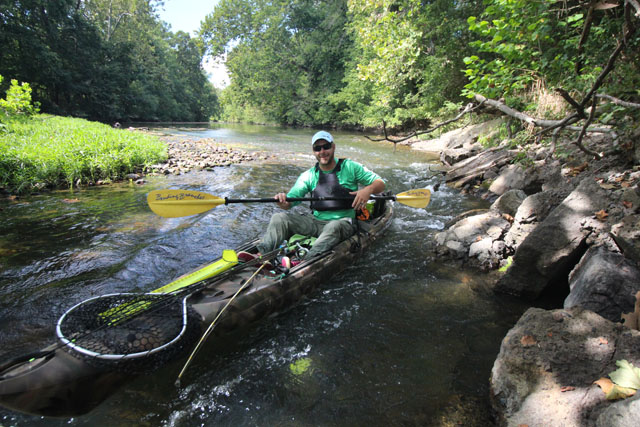 The kayak fishing gameplan changes with the seasons and the type of water fished. Photo Jeff Little