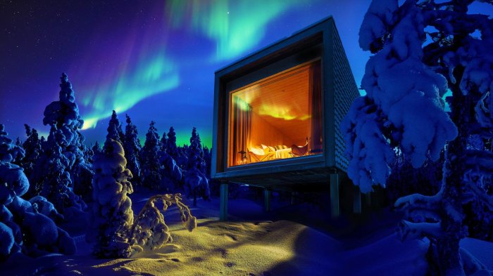 Sign us up for a trip to Finland this winter. Photo: Courtesy of Arctic Treehouse Hotel