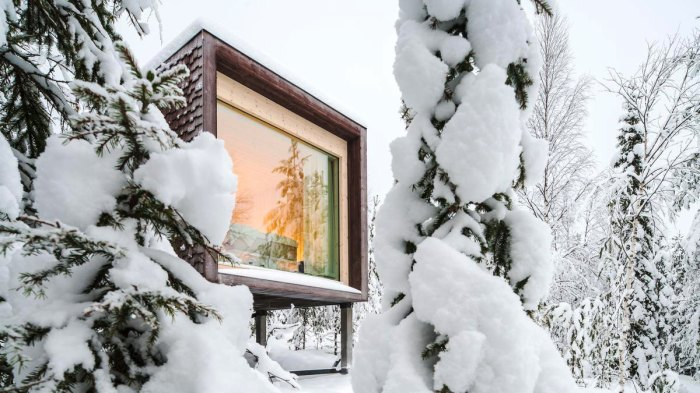 There has to be elves somewhere around here. Photo: Courtesy of Arctic Treehouse Hotel