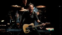 Live concert of Bruce Springsteen & The E-Street Band at the San Siro Stadium: The singer Bruce Springsteen during the concert