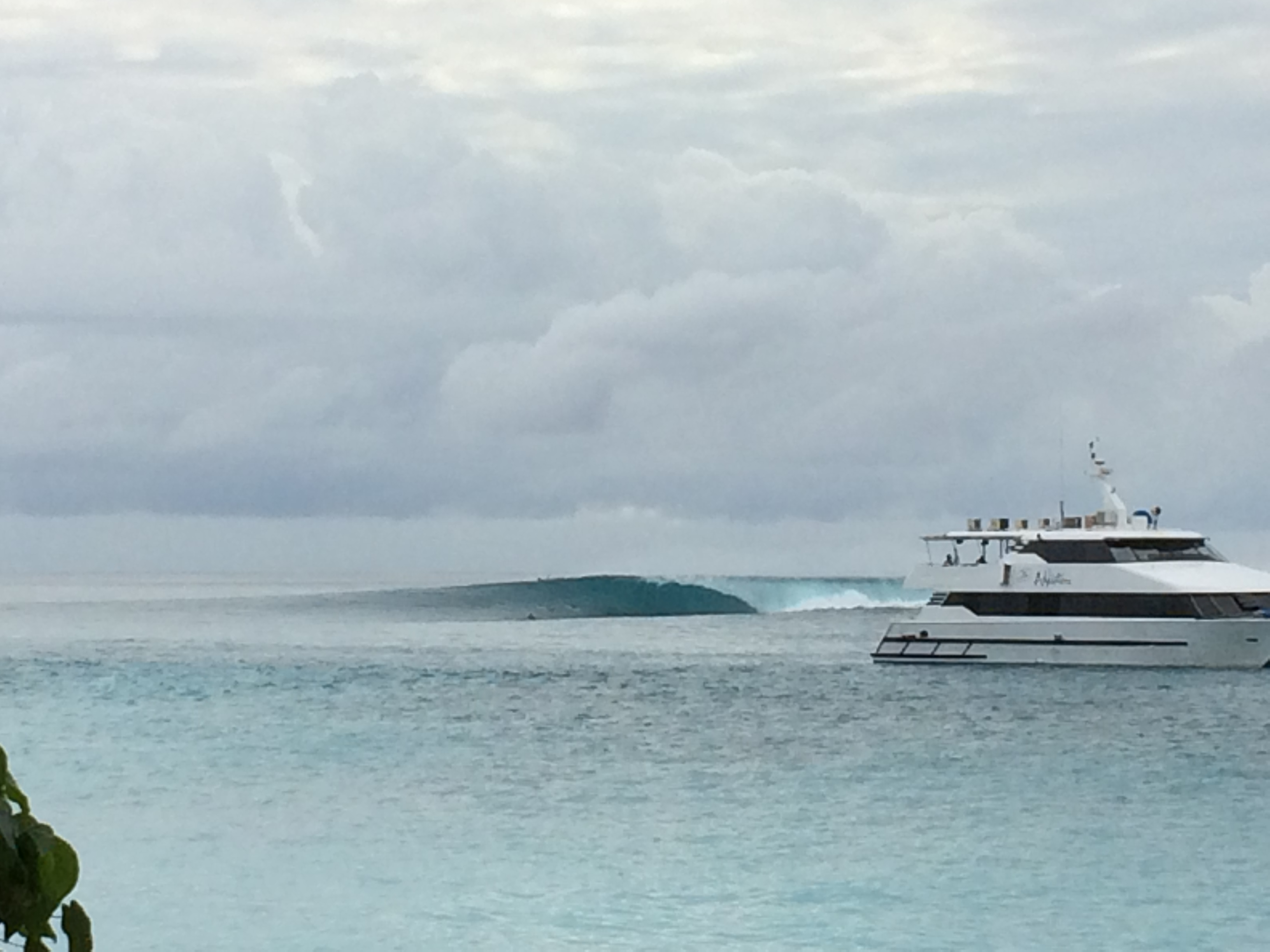 You could score waves like this by boat (pictured here) or by land, just kind of depends on your budget...and sea legs. Photo: Beau Flemister