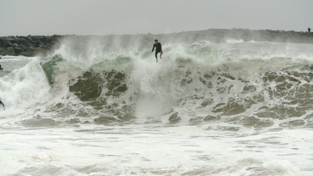 Free falling. Photo: Courtesy of The Dirty Old Wedge
