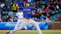 Mets Cubs Baseball, Chicago, USA Noah Syndergaard New York Mets starting pitcher Noah Syndergaard delivers during the first inning of a baseball game against the Chicago Cubs, in Chicago 12 May 2015