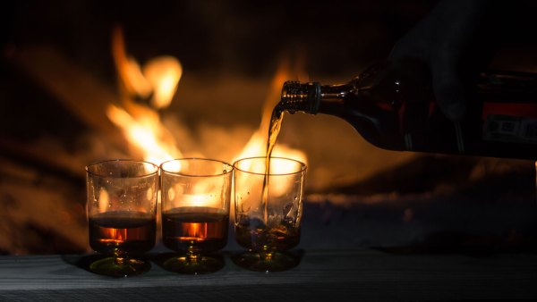 whiskey campfire