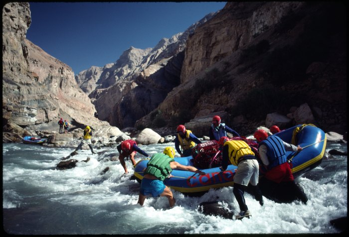 The Canoandes in Peru's Colca Canyon, 1992. Photo by Zbigniew Bzdak