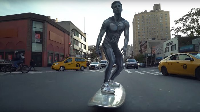 The Silver Surfer in the streets of NYC.