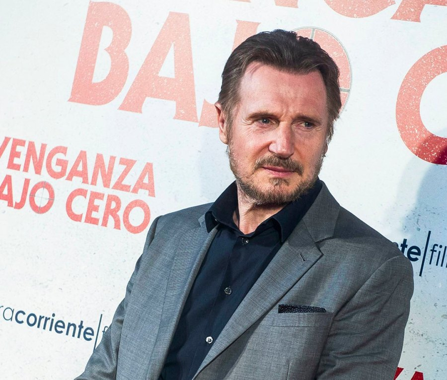 """Liam Neeson at the Spanish premiere of """"Cold Pursuit"""" in July 2019"""