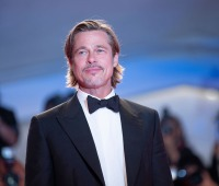 """Brad Pitt at the """"Ad Astra"""" premiere in August 2019 in Venice, Italy."""