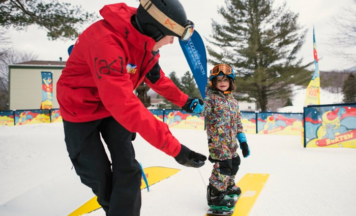 The Burton Riglet is a great system to pull them along or keep them close. Photo courtesy of BurtonRiglet.com