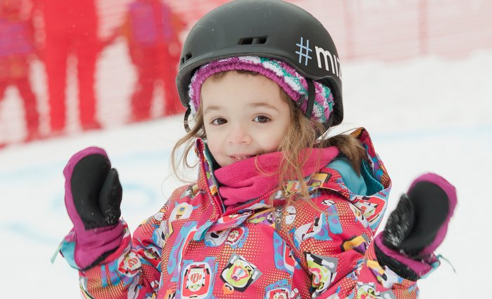 Keep kids happy and keep them warm those first days on the hill. Photo Courtesy of Burton.