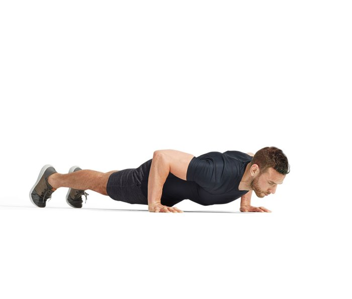 Chest-to-floor pushup