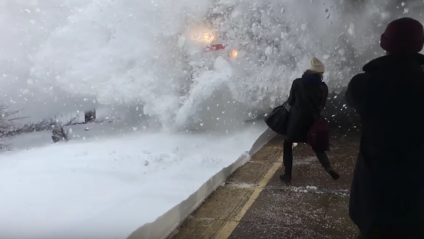 winter storm stella train snow train video