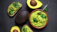 Avocado on toast and in guacamole