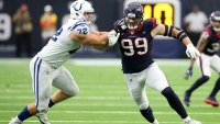 J.J. Watt #99 of the Houston Texans in action during the game against the Indianapolis Colts at NRG Stadium on December 9, 2018 in Houston, Texas. The Colts defeated the Texans 24-21. (Photo by Rob Leiter via Getty Images)