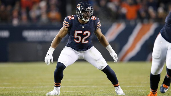 Khalil Mack #52 of the Chicago Bears in action during the game against the Los Angeles Rams at Soldier Field on December 9, 2018 in Chicago, Illinois. The Bears won 15-6. (Photo by Joe Robbins/Getty Images)